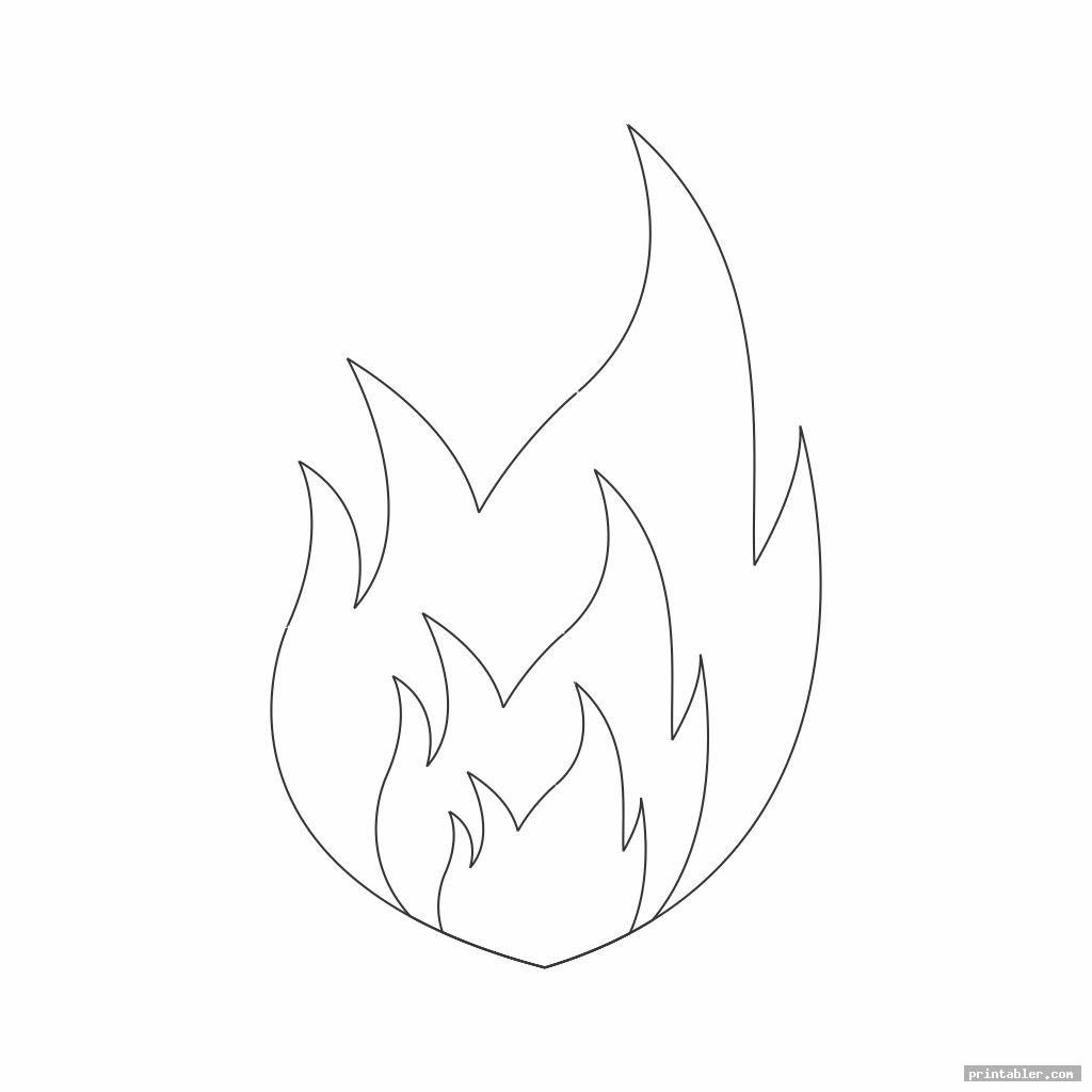 image about Flame Stencil Printable known as Publicado Flame Template Printout Printable -