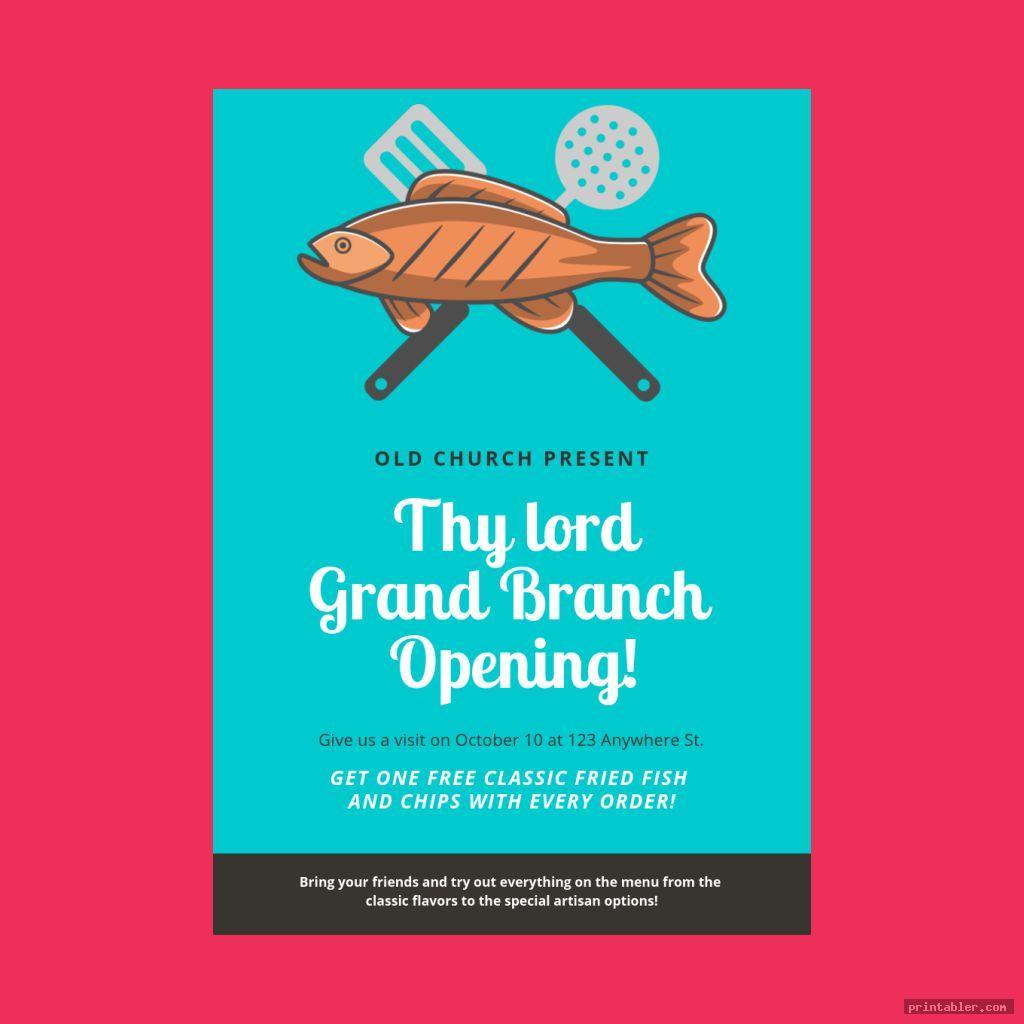 church fish fry flyer printable
