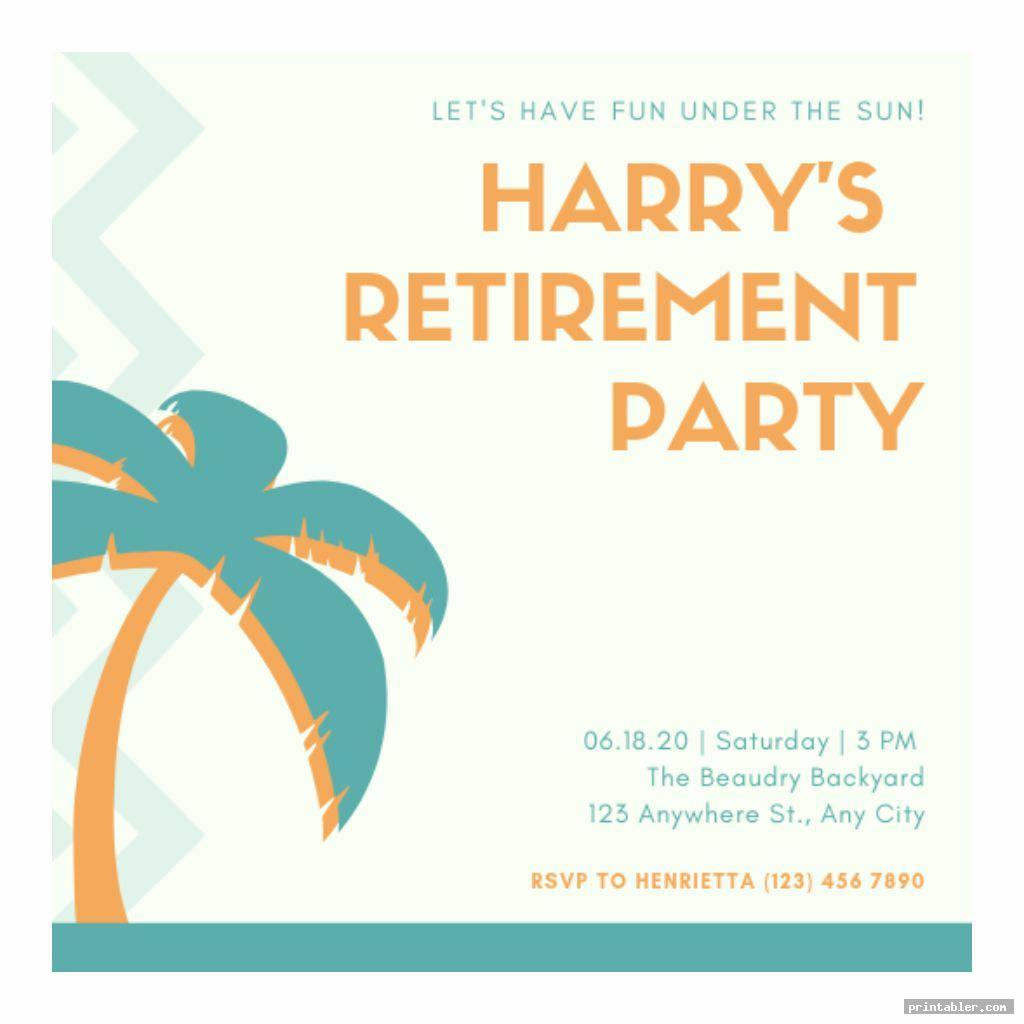 Retirement Program Template Printable