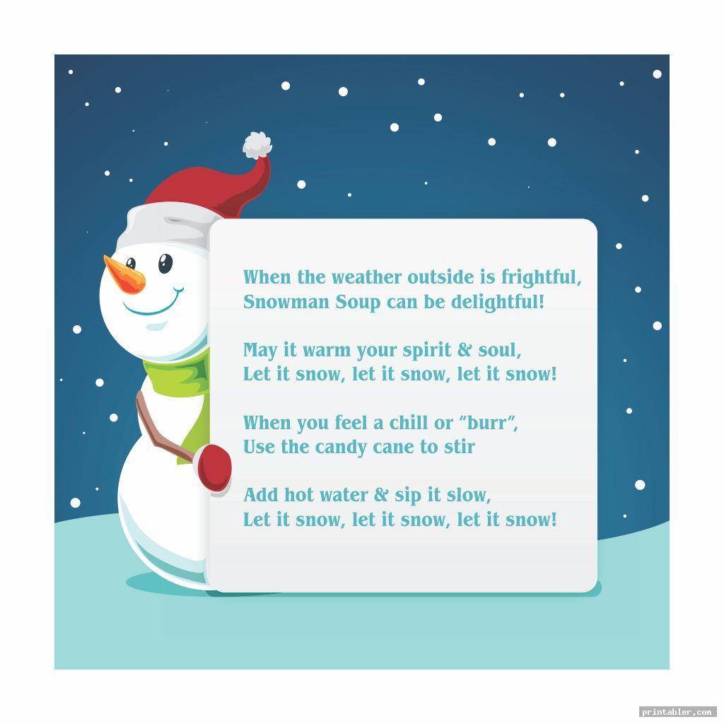 cool snowman soup template printable