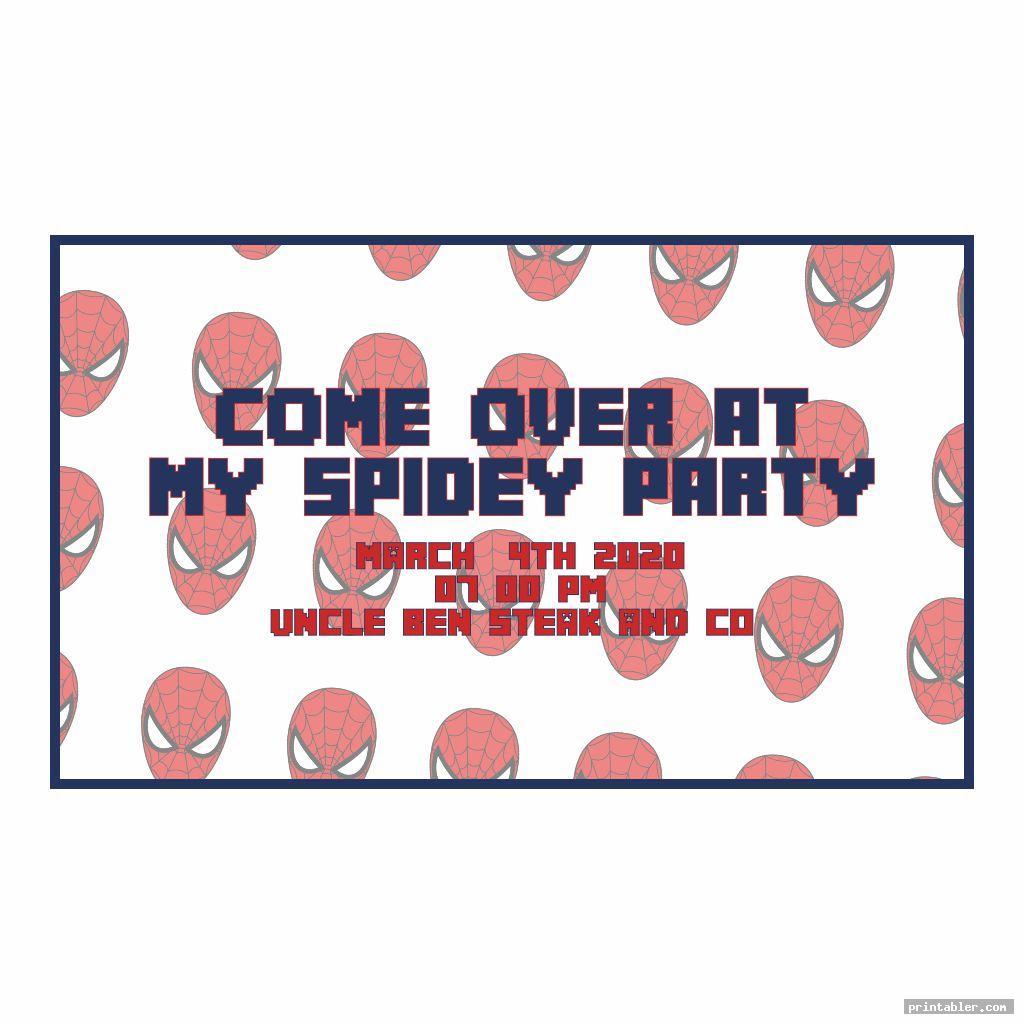 cool spiderman birthday invitations printable