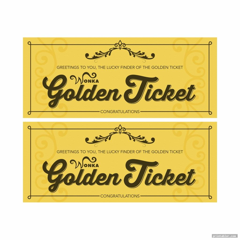 It is an image of Current Willy Wonka Golden Ticket Printable