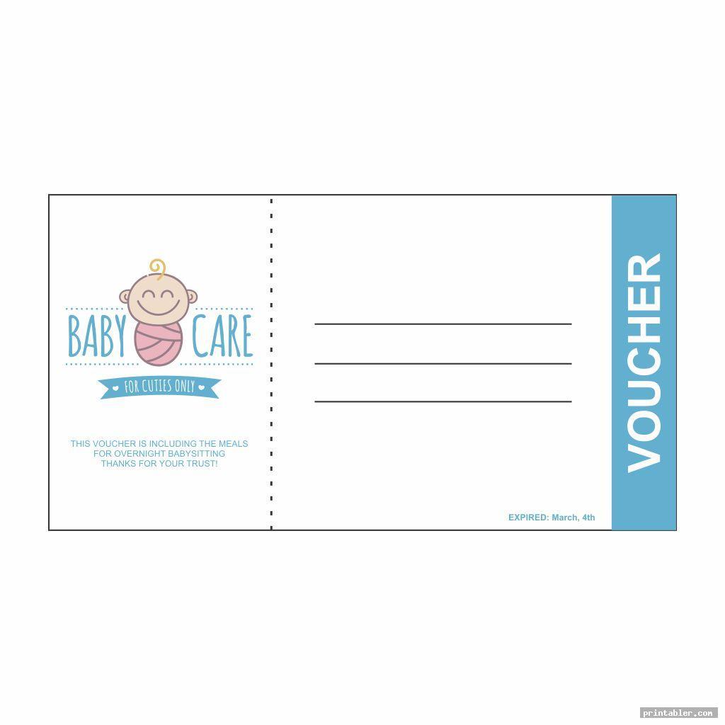 corporate babysitting voucher template