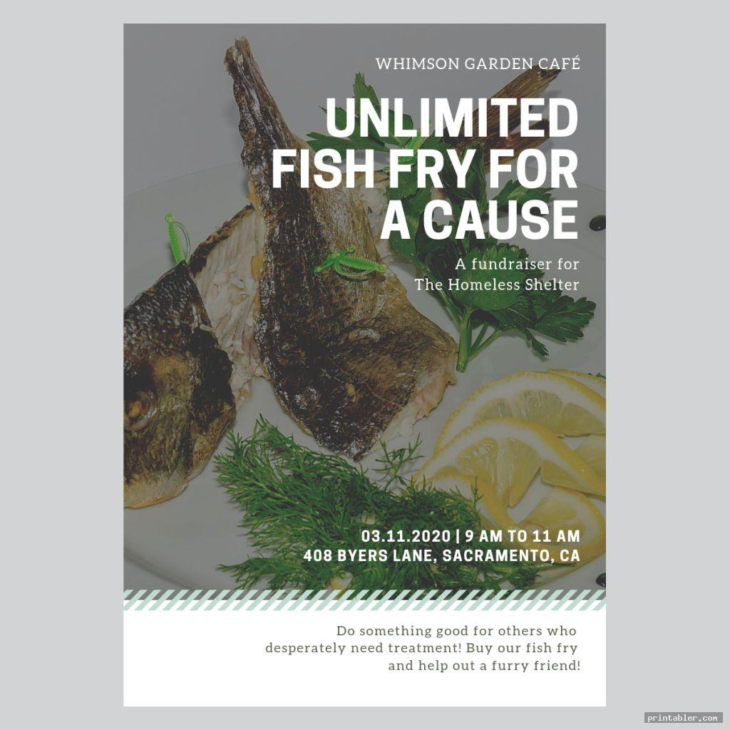 corporate church fish fry flyer printable