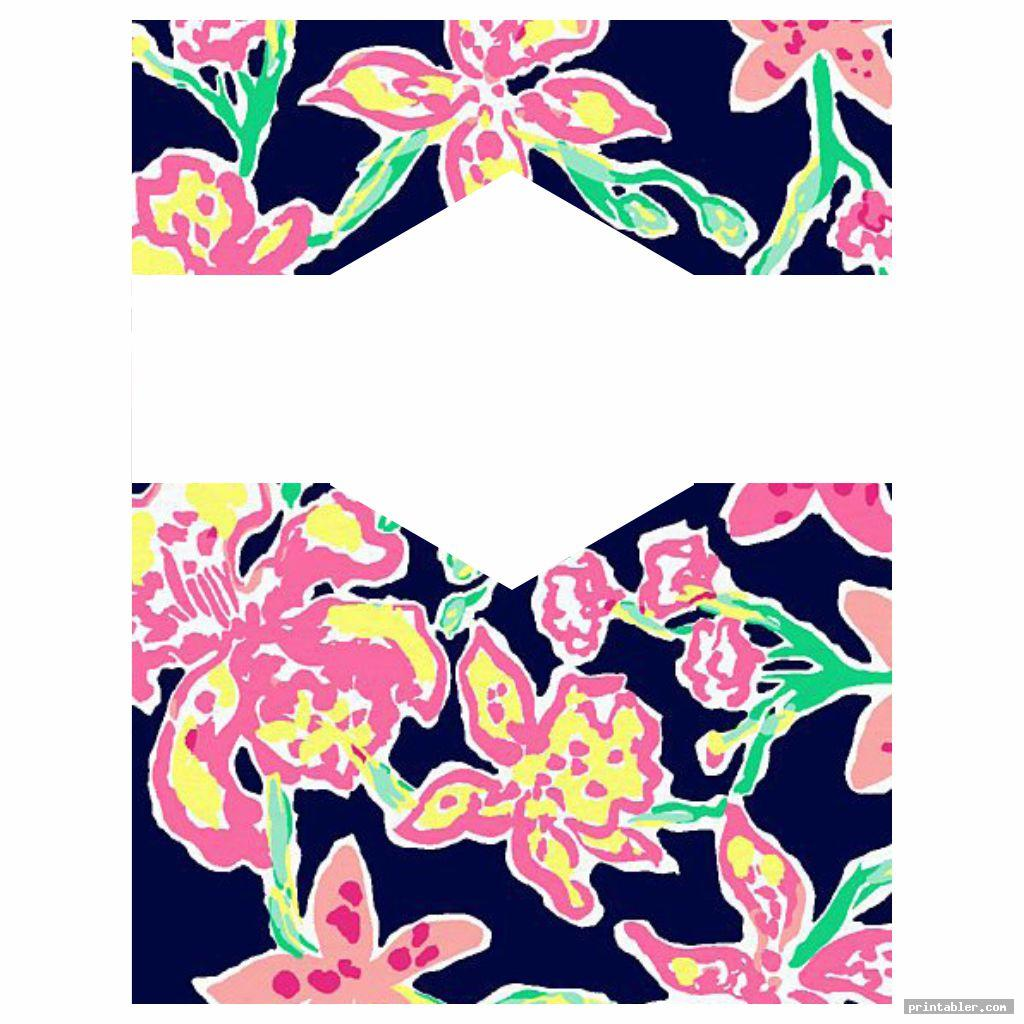 Lilly Pulitzer Binder Cover Templates Printable