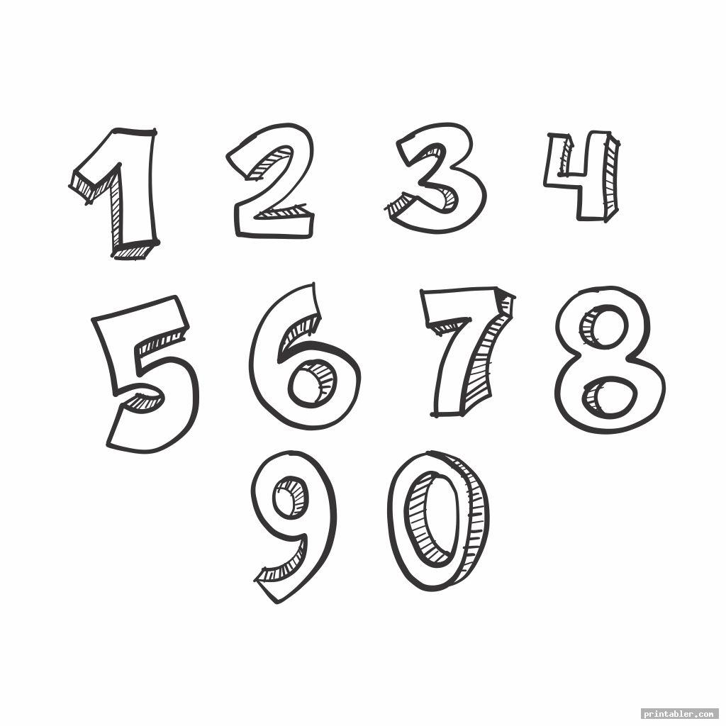 image relating to Printable Numbers 1-10 identify Bubble Quantities 1-10 Printable -