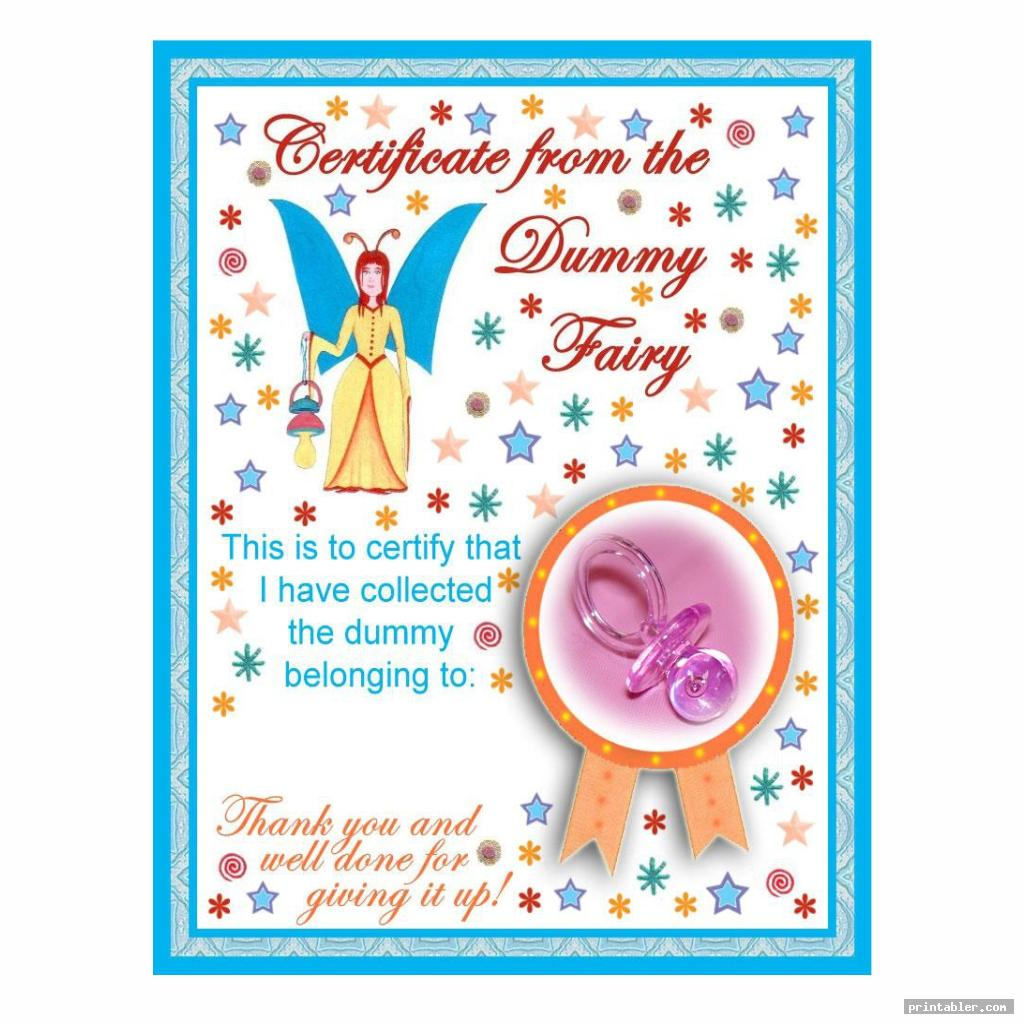 Dummy Fairy Letter Printable