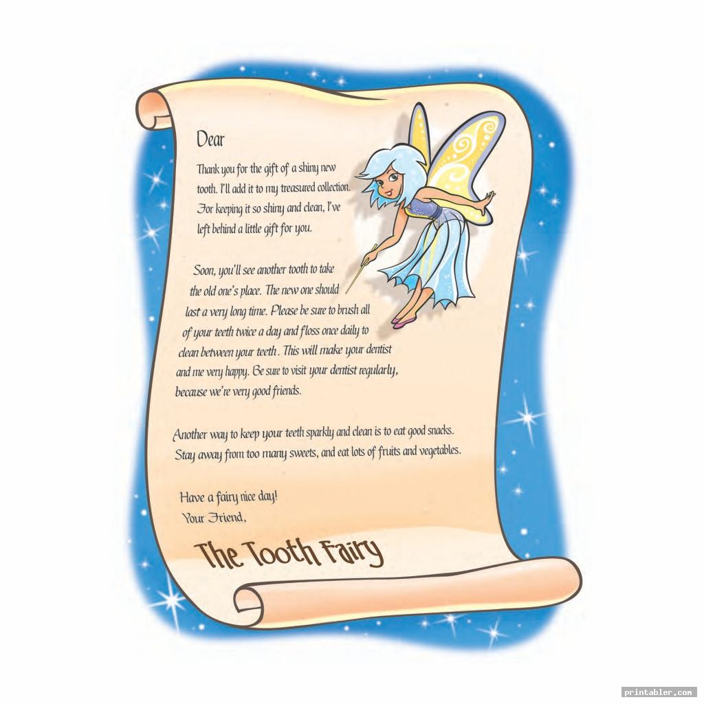 dummy fairy letter printable image free