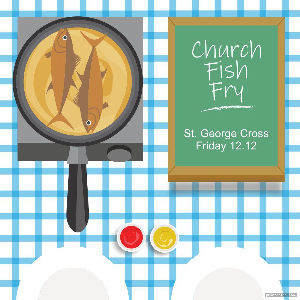 elegant church fish fry flyer printable