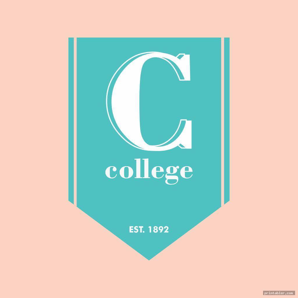 elegant college pennants template printable