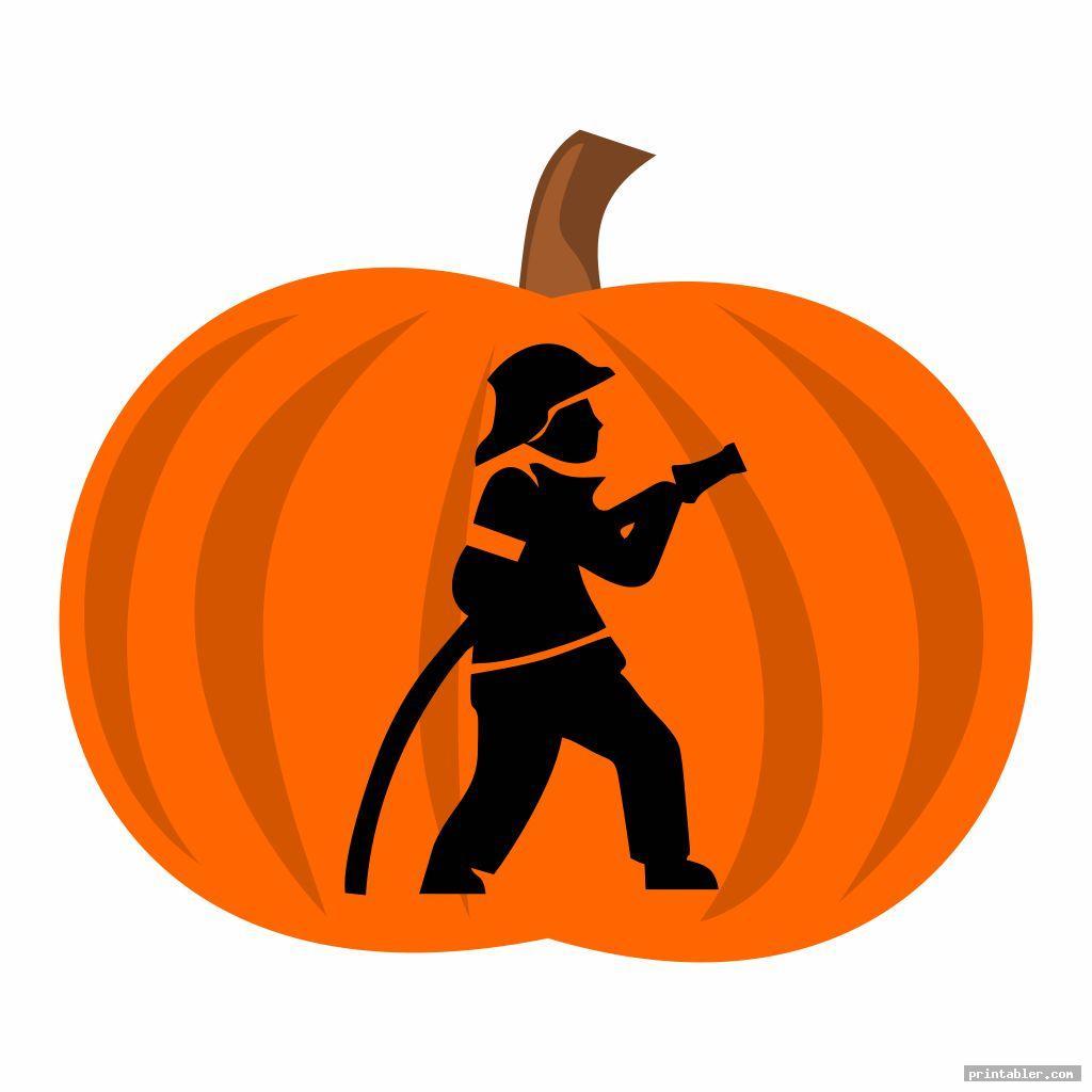 fireman pumpkin stencil printable for kids