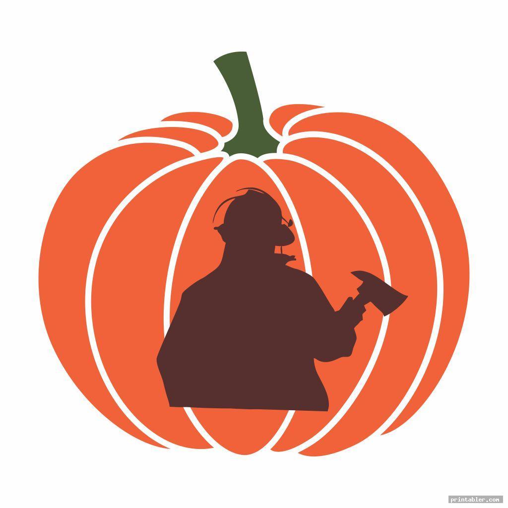 Fireman Pumpkin Stencil Printable