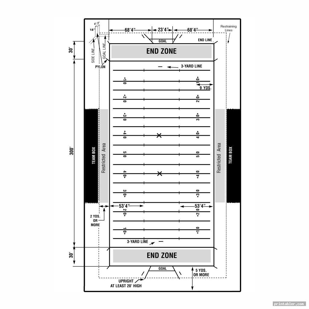football field diagram printable for use