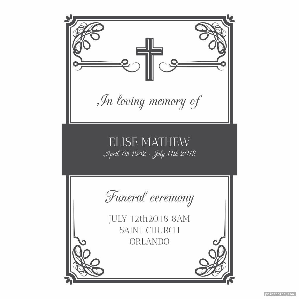 funeral cards printable image free