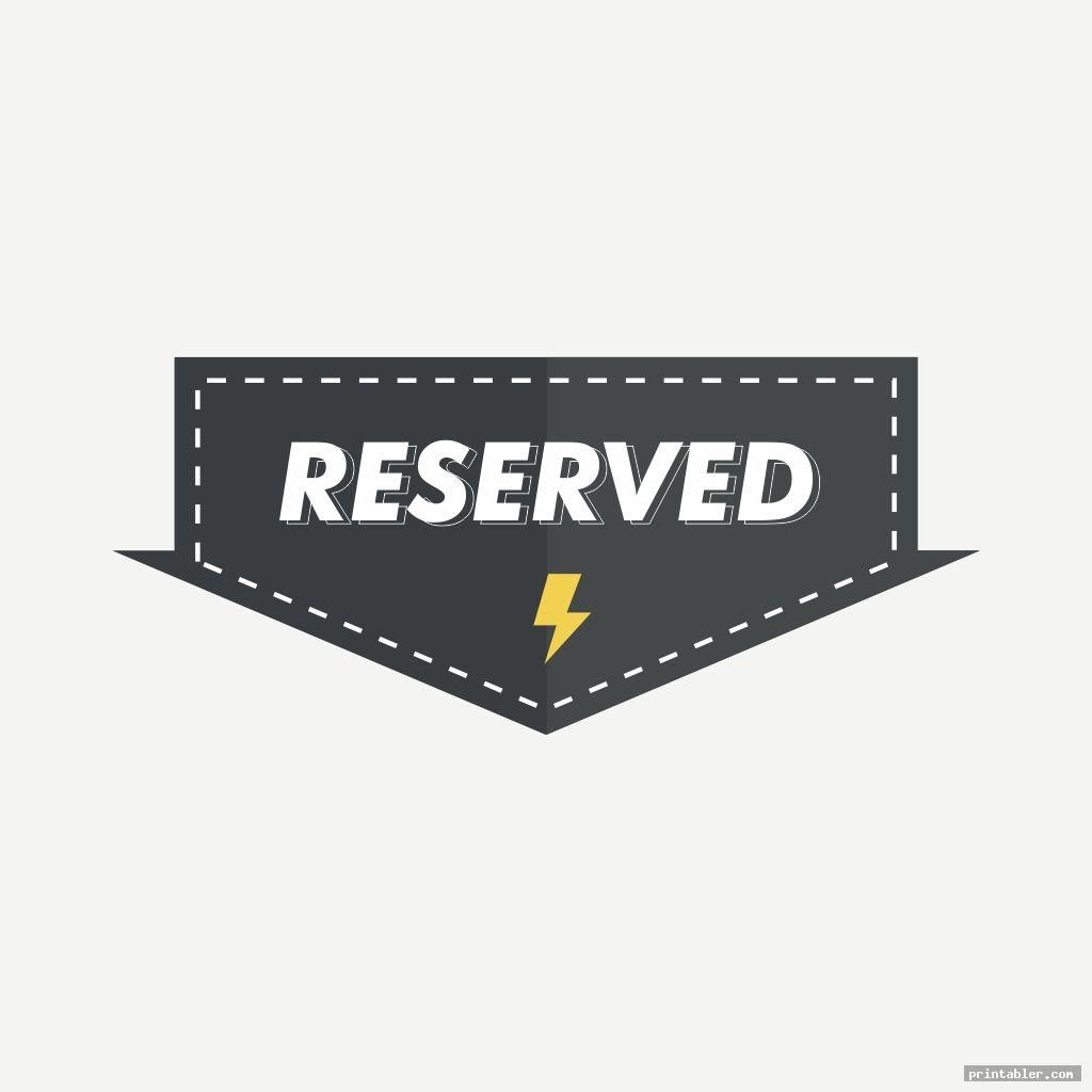 funky reserved sign printable