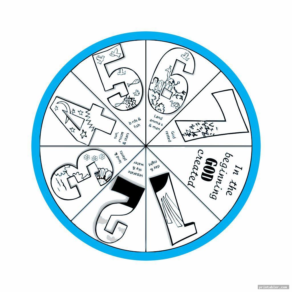funny creation wheel craft printable