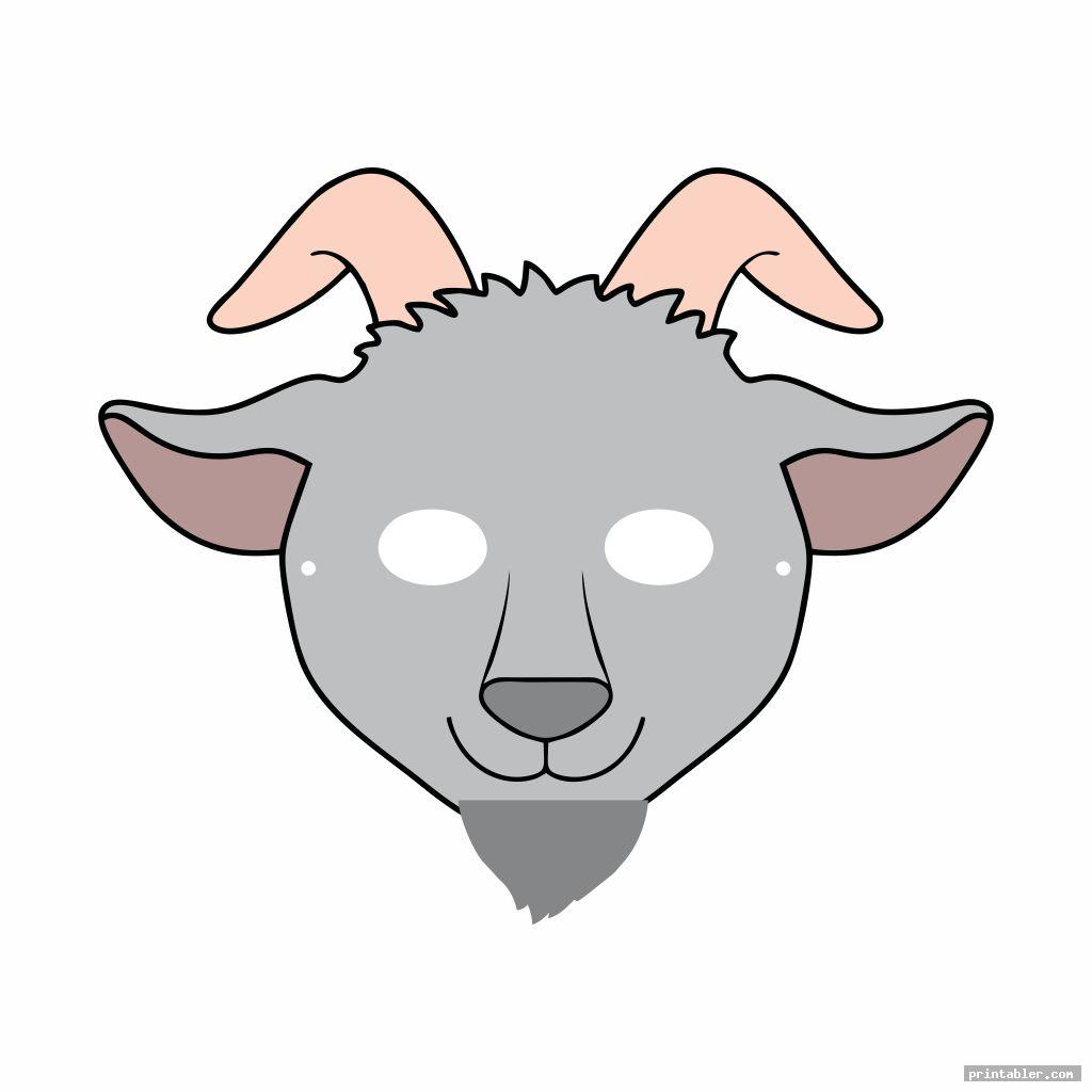 funny goat mask template printable