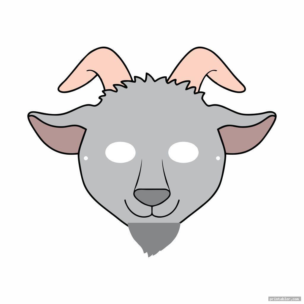 Goat Mask Template Printable