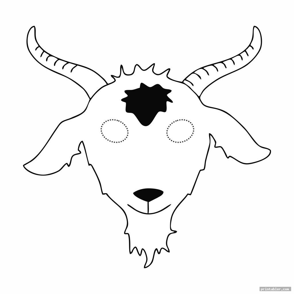goat mask template printable for kids