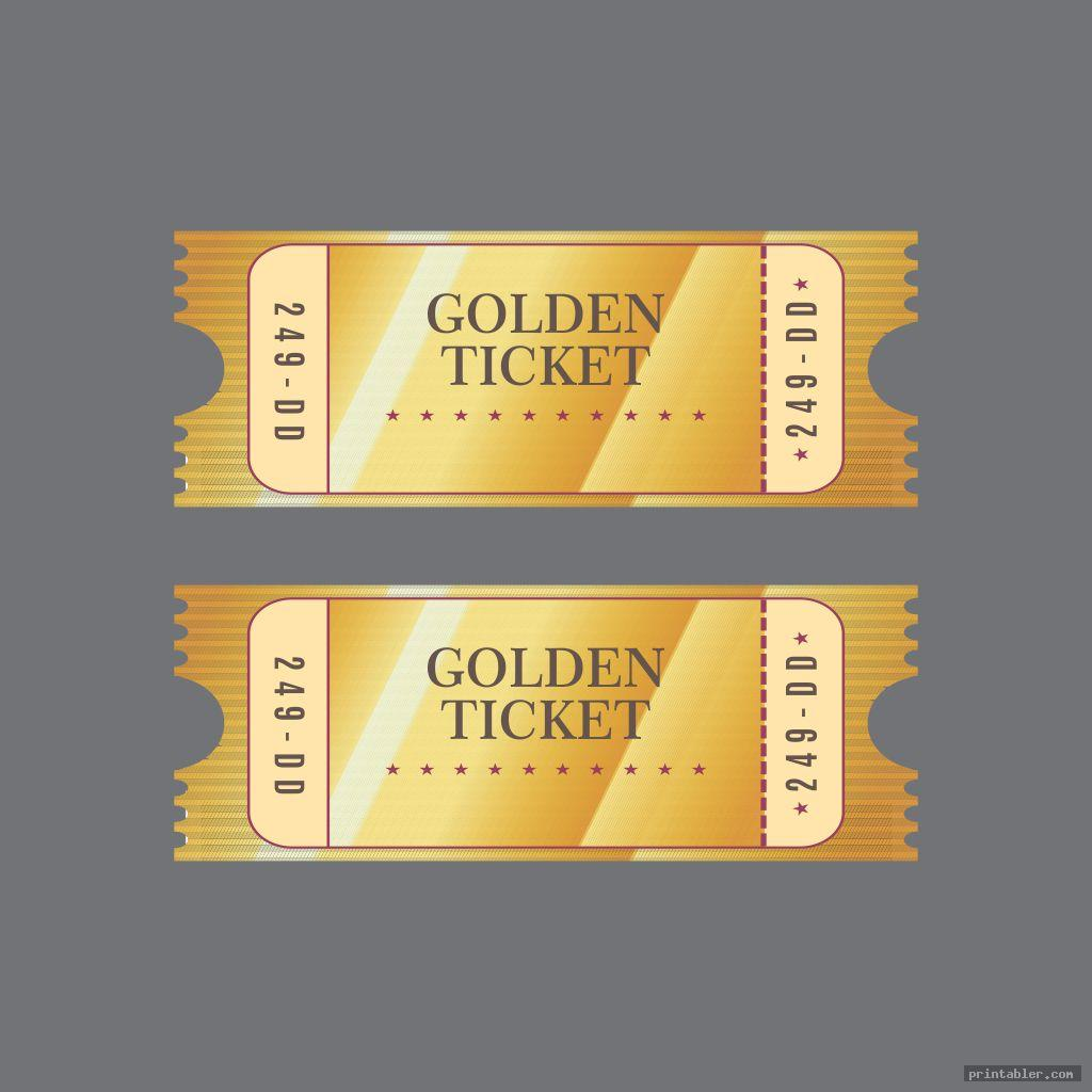 golden ticket template printable image free