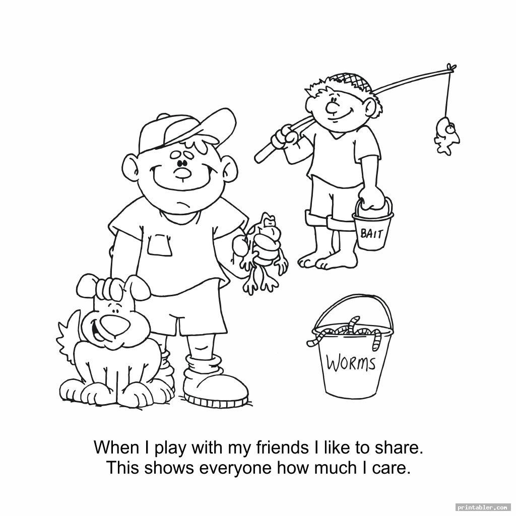 Good Manners Coloring Pages Printable