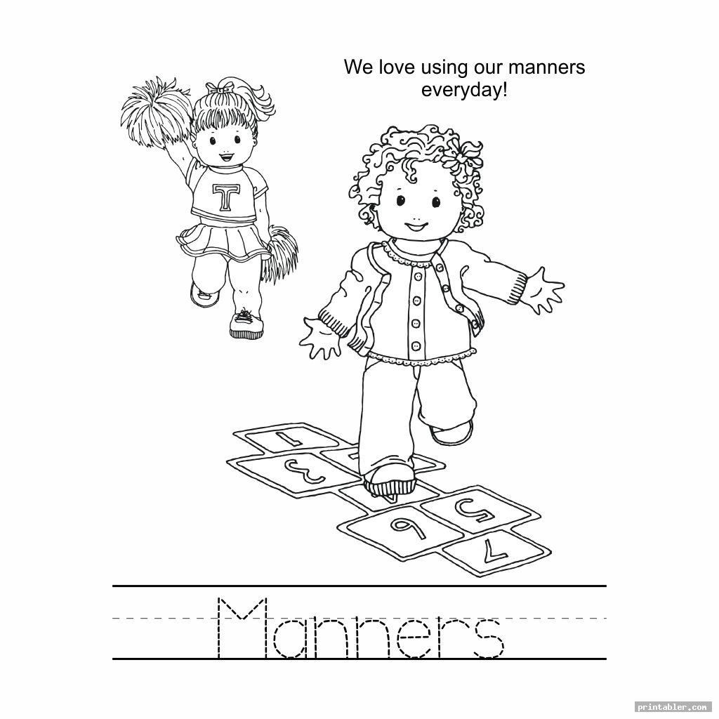 good manners coloring pages printable image free