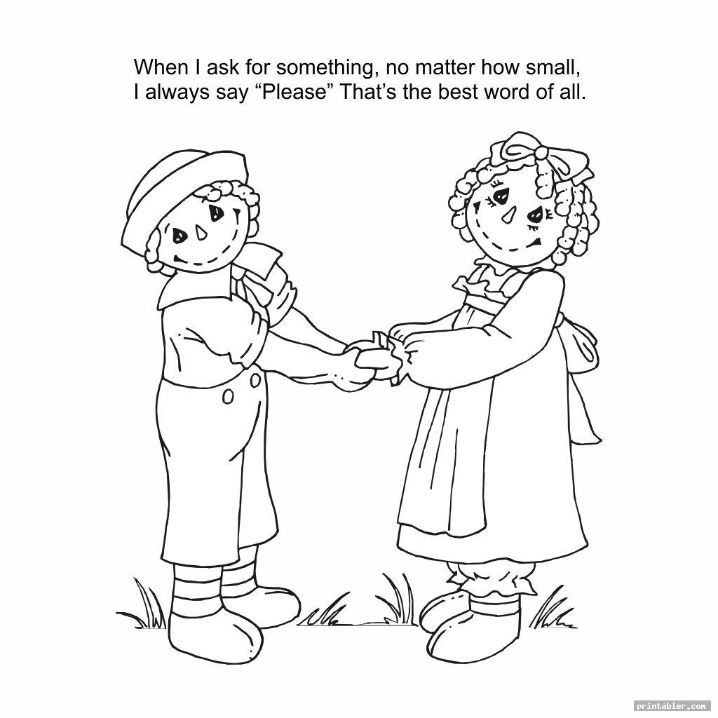 good manners coloring pages printable template for use