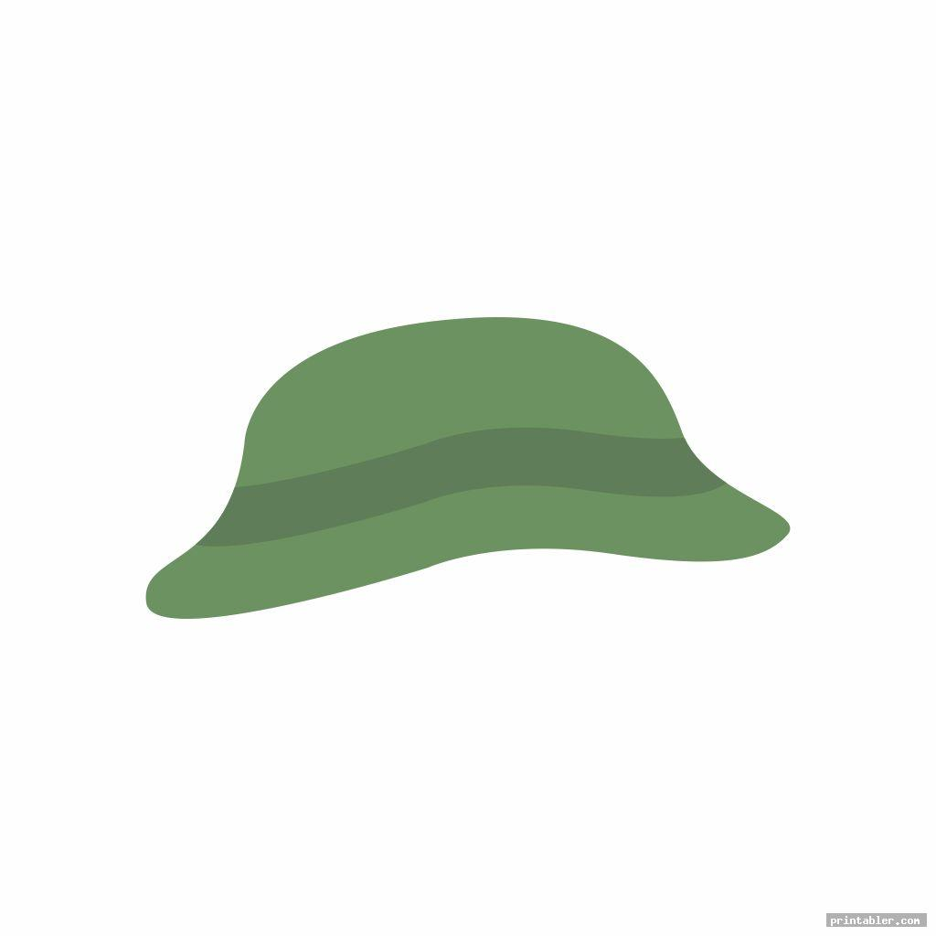green snowman hat printable