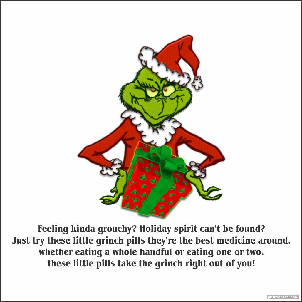 grinch pills printable for use