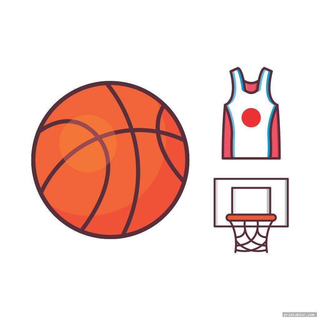 icon set basketball clipart printable