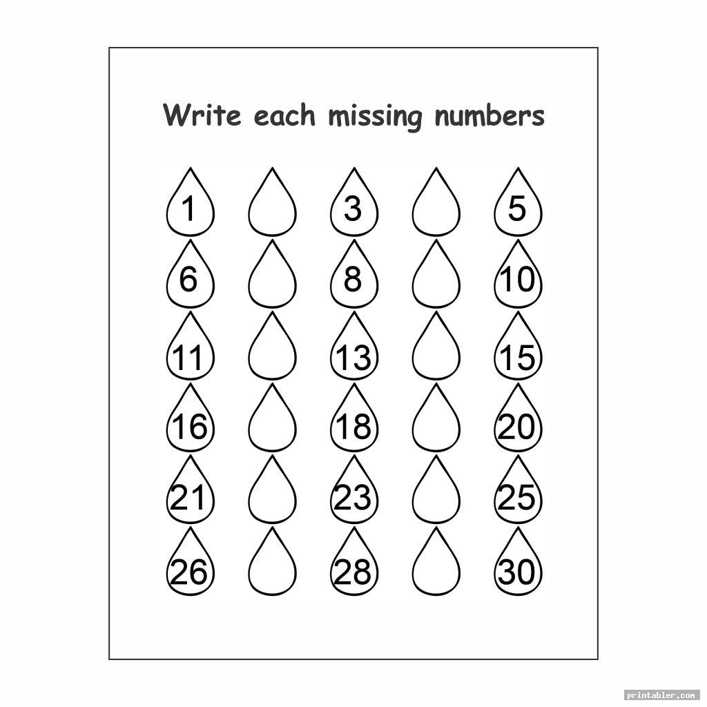 large numbers 1 30 printable image free