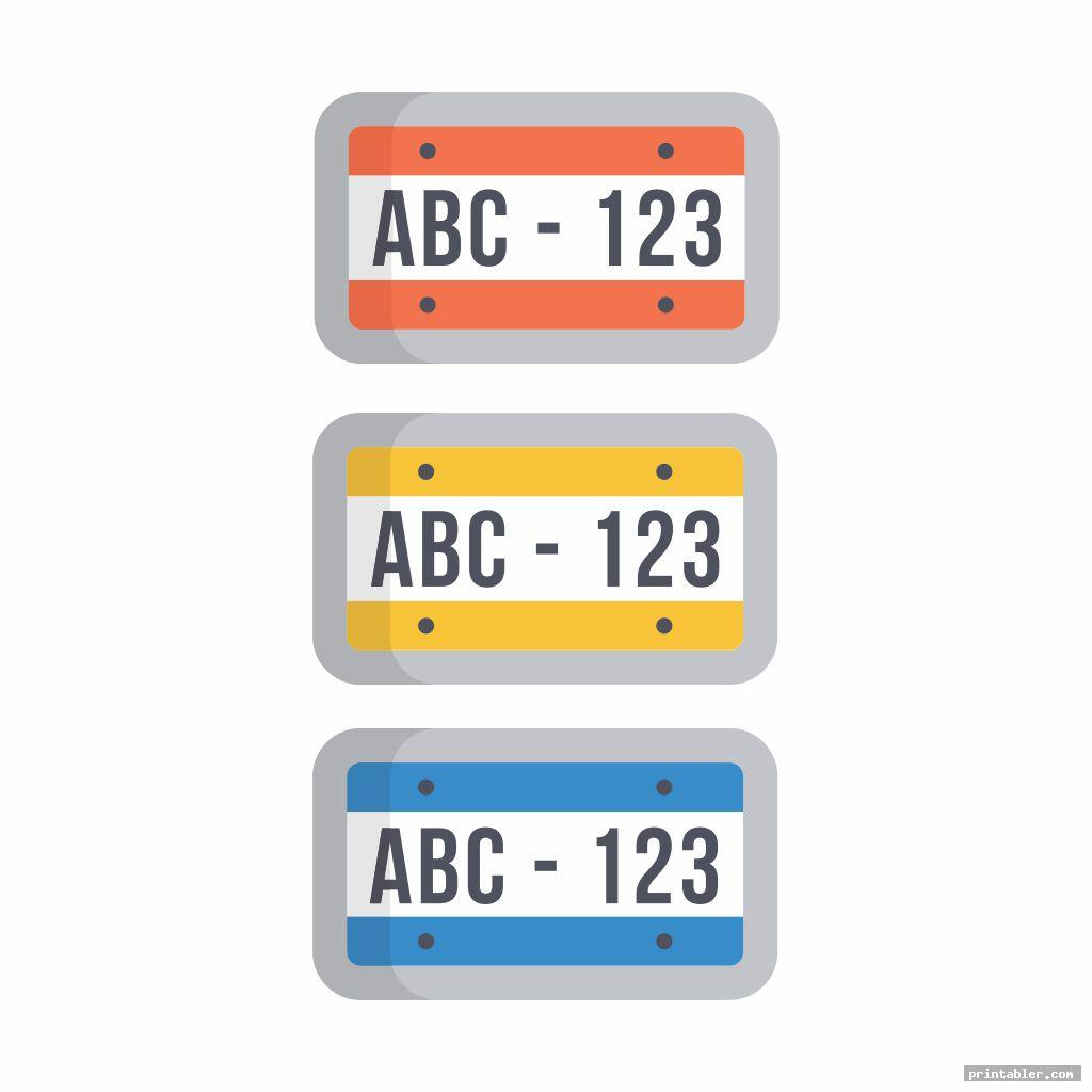 license plate template printable image free