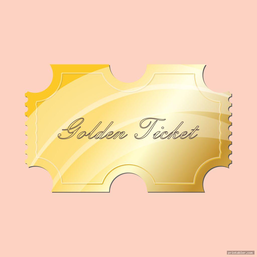 minimalist golden ticket template printable