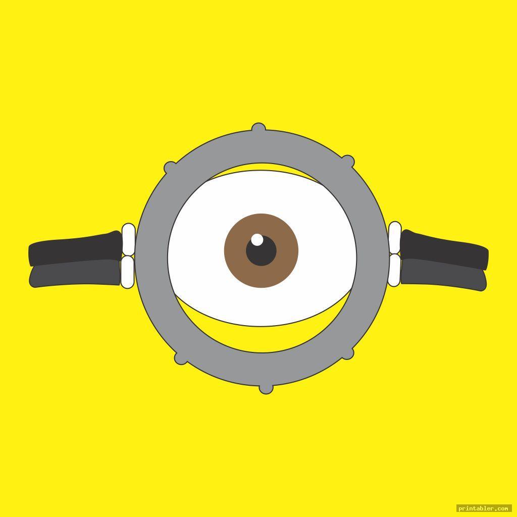 minion goggles template printable image free