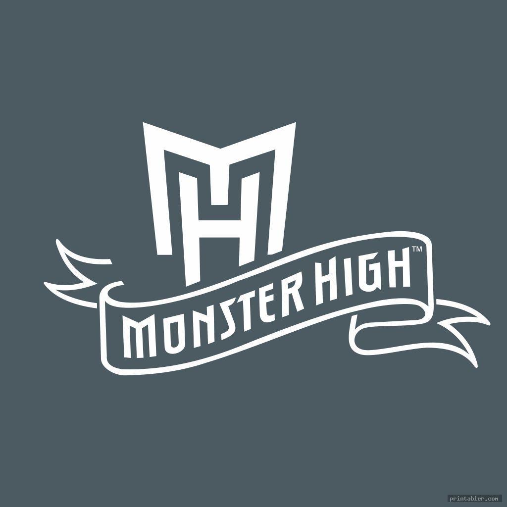 monster high logo font printable