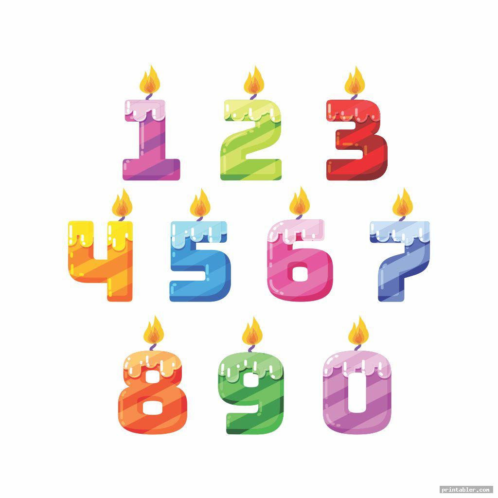 numbers birthday candle template printable