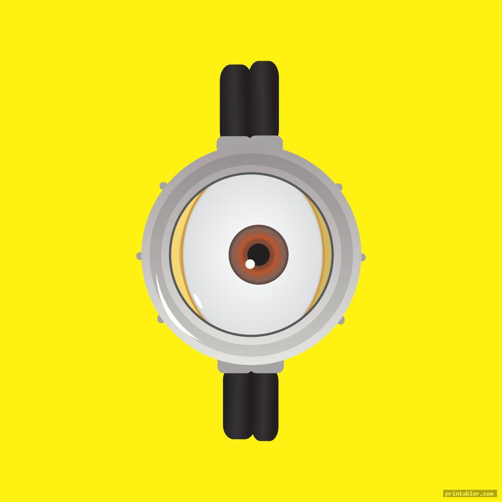 one eye minion goggles template printable
