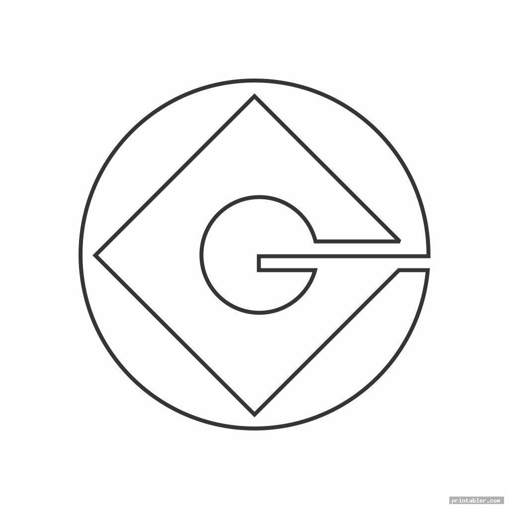 outline g minion logo printable