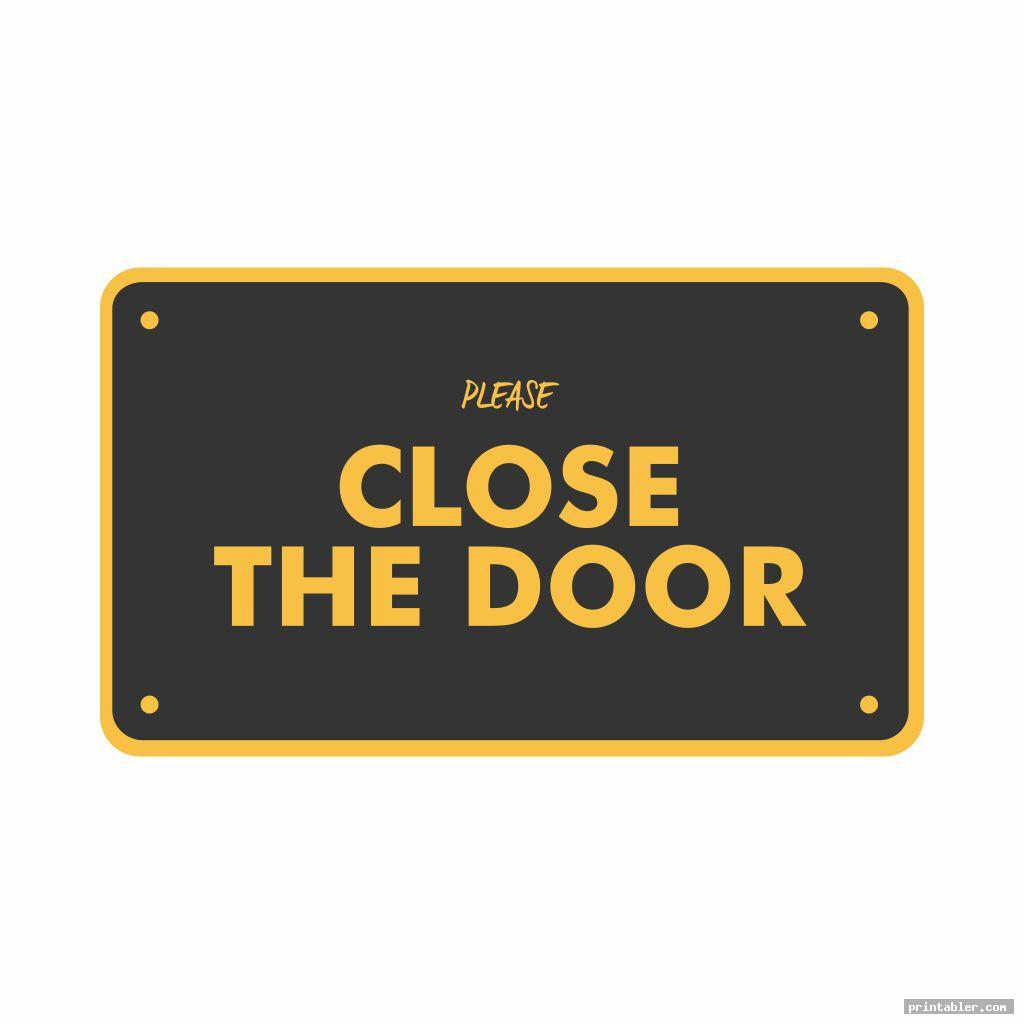 Please Close the Door Sign Printable