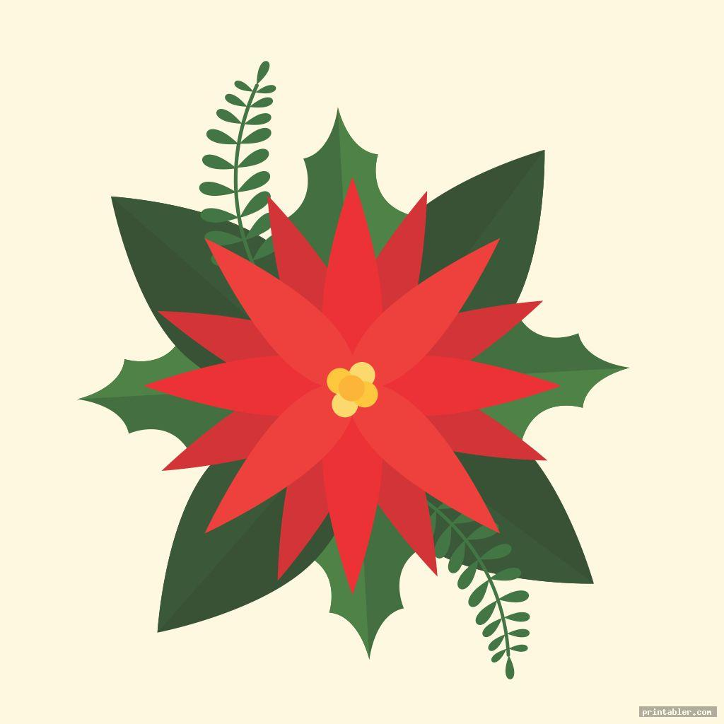 poinsettia template printable for use