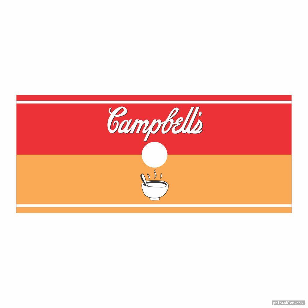 pop art soup label template printable