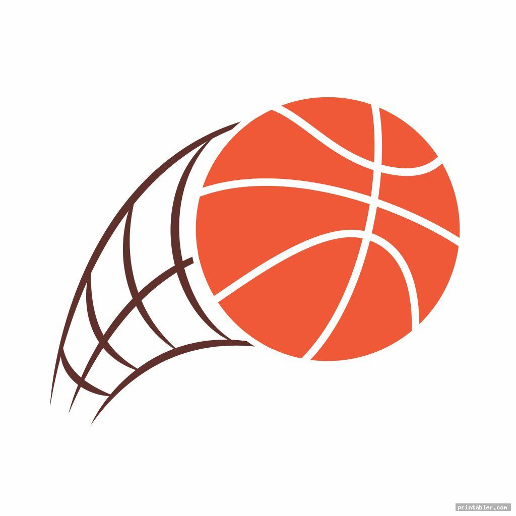 graphic regarding Printable Basketball named Basketball Clipart Printable -