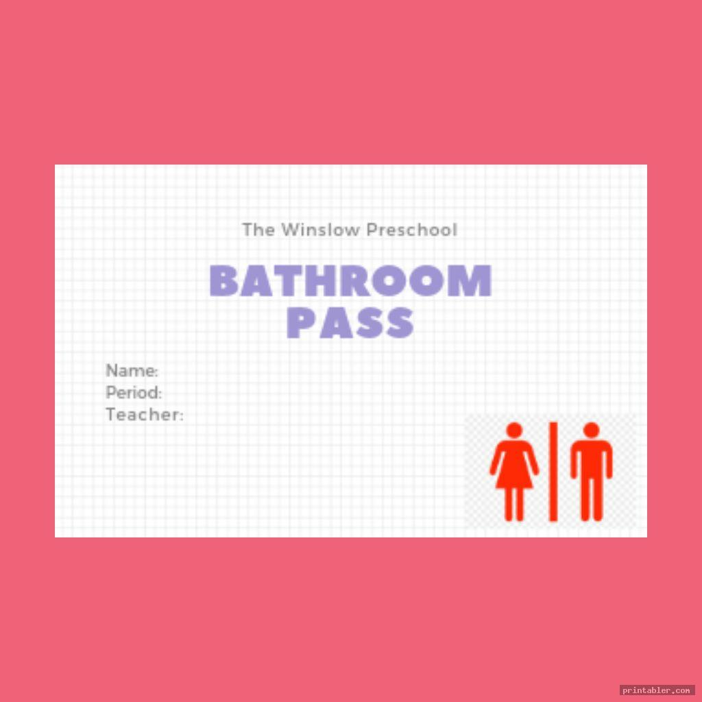 printable bathroom passes template