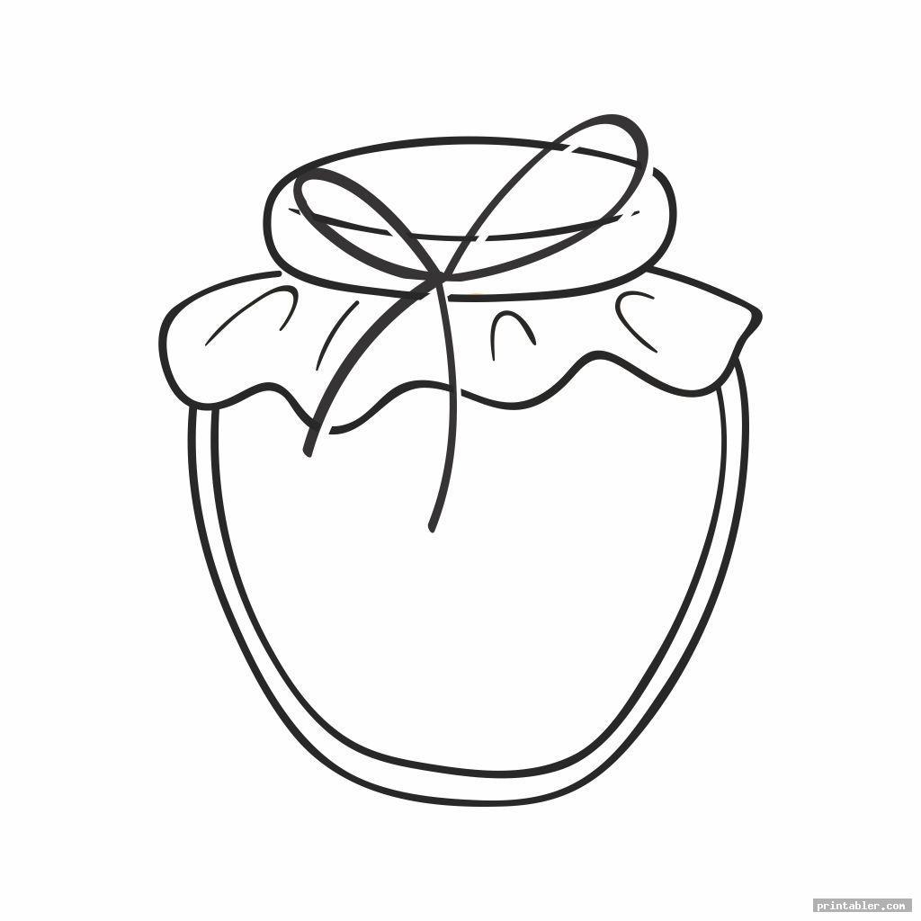 printable bug jar coloring page template