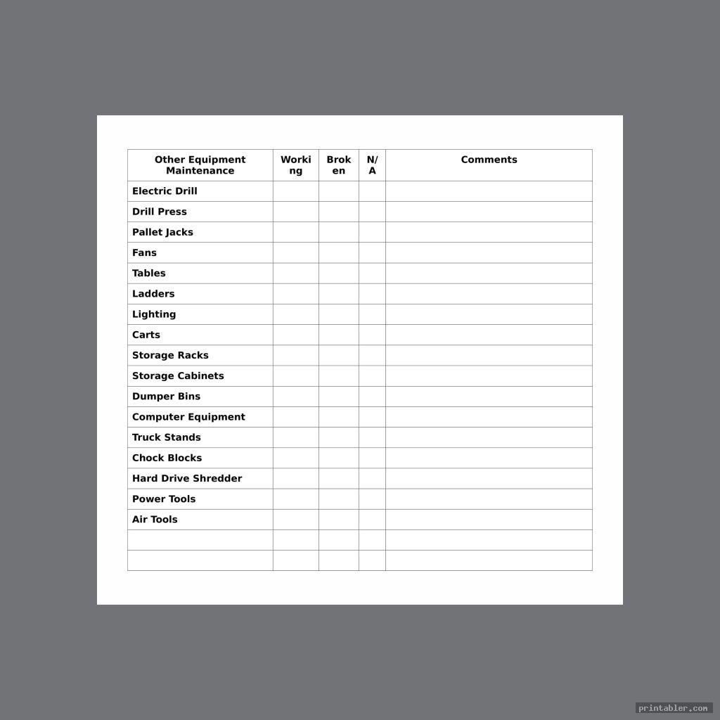 printable corporate electrical material list template