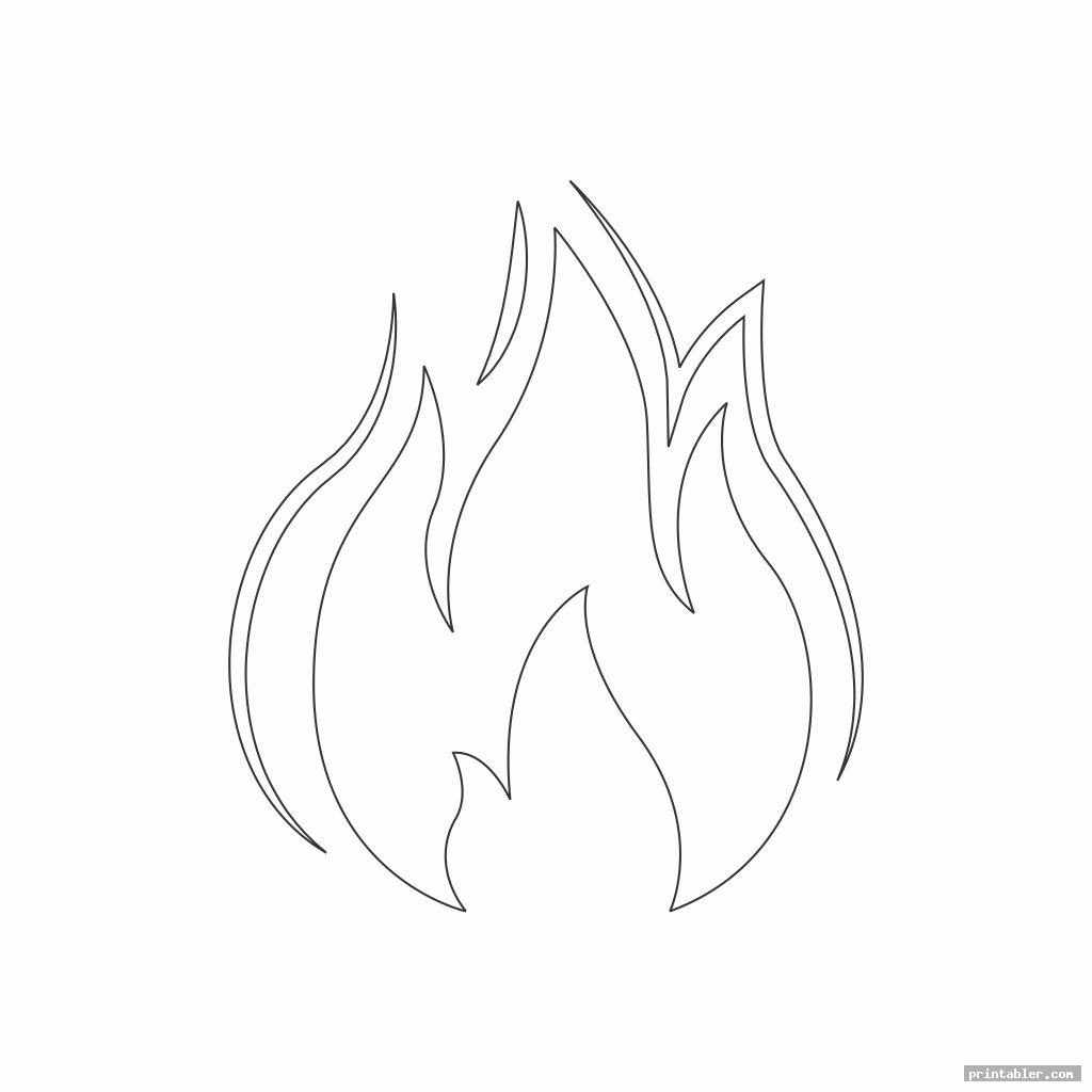 image regarding Flame Stencil Printable titled Flame Template Printout Printable -