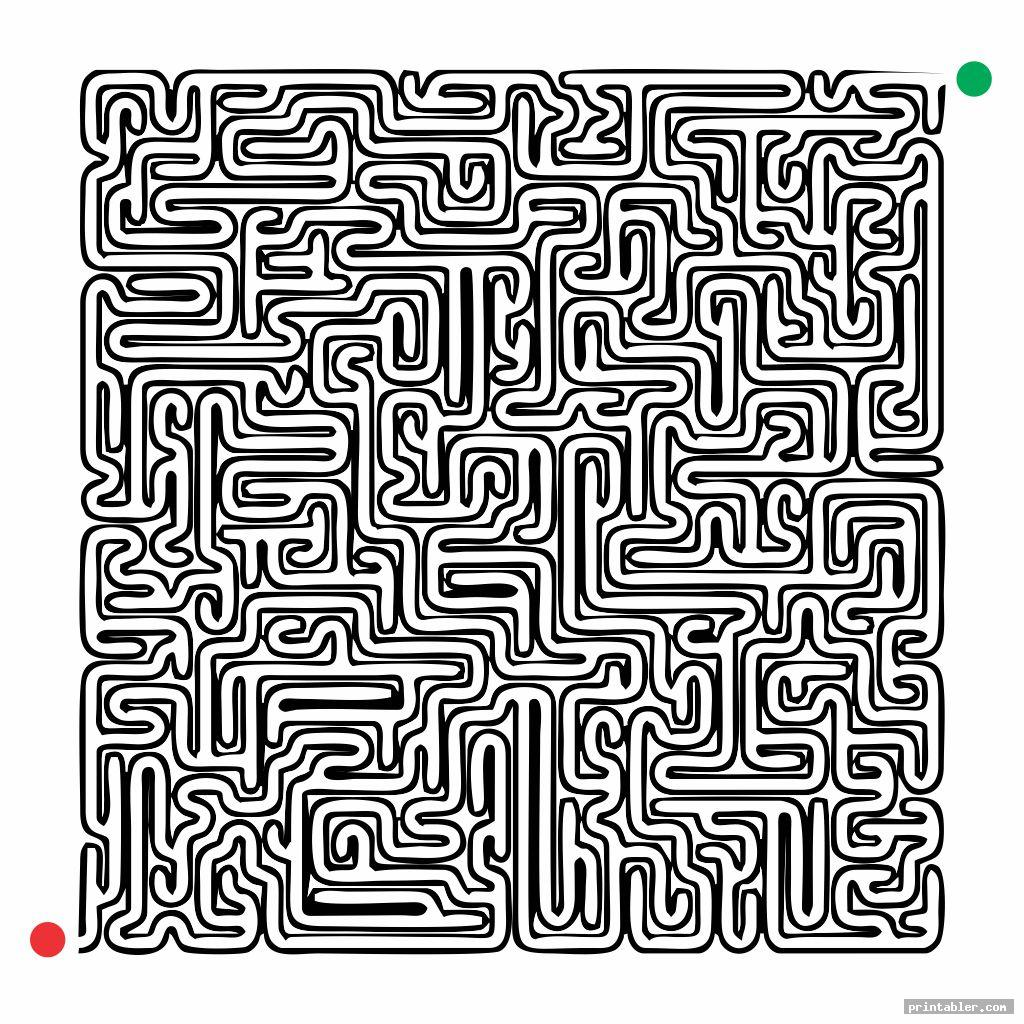 printable hardest maze ever template