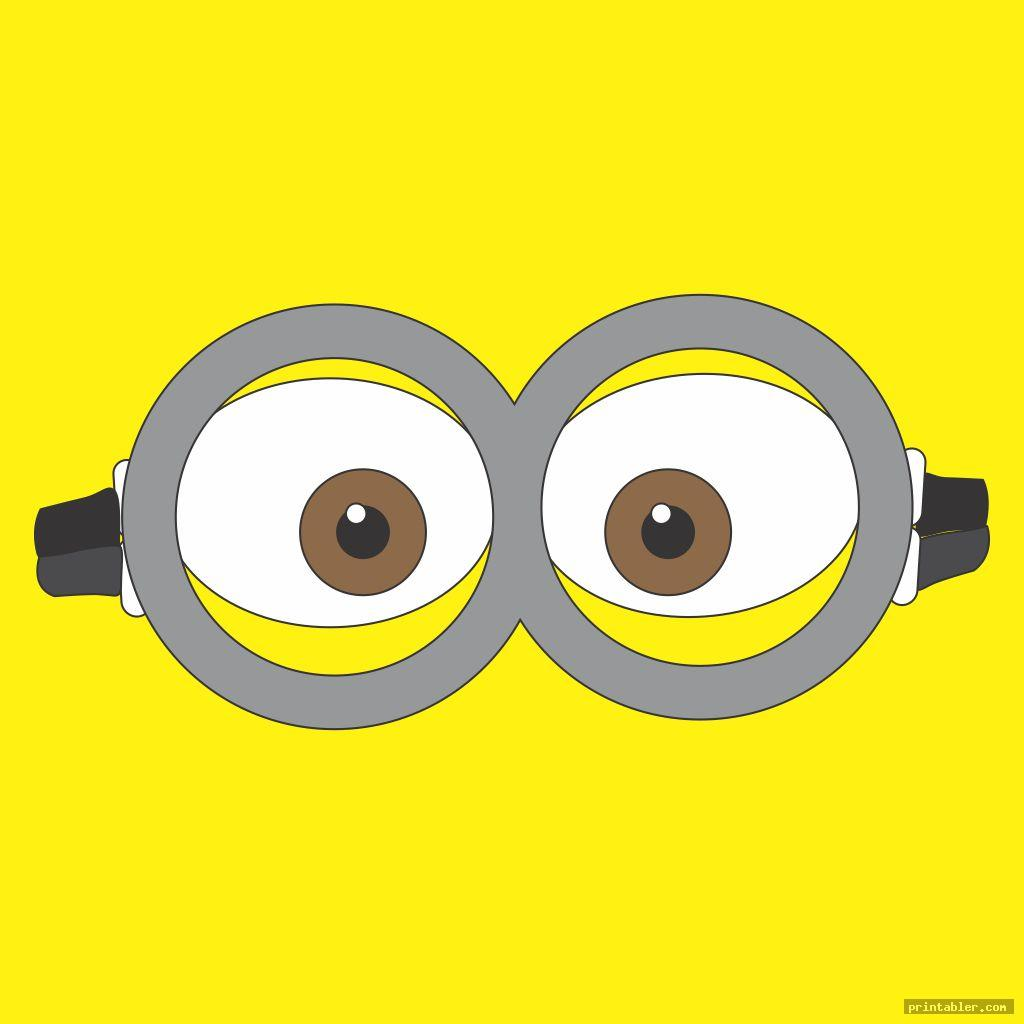 Minion Goggles Template Printable