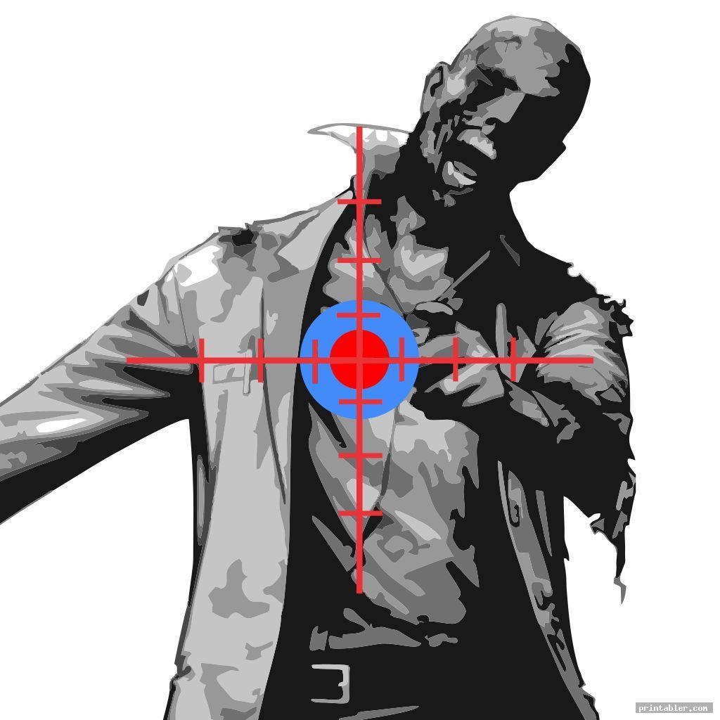 printable zombie targets pdf template