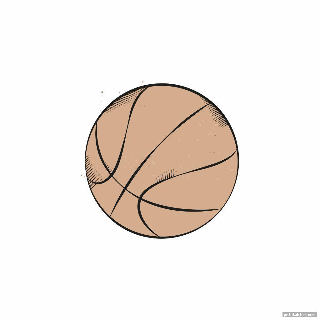 retro basketball clipart printable